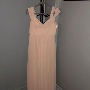 A beautiful baby pink dress from Lulus's
